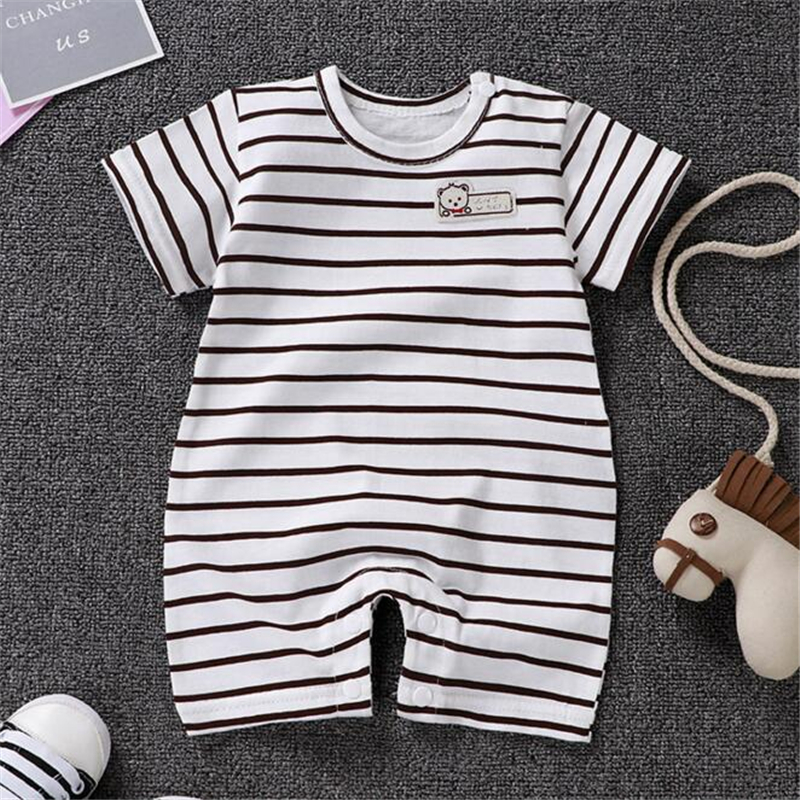 Newborn Baby   Romper   Short Sleeve Cotton Summer Cartoon Baby Jumpsuit Baby Onesies Clothes Baby Outfits 3M 6M 9M 12M