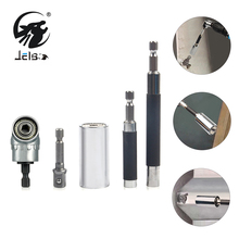 jelbo Screwdriver  Connecting Rod 105 Degrees 1/4″ Hex Shank Adapter Drills  Wrench Head Set Socket Sleeve 7-19mm Power Drill