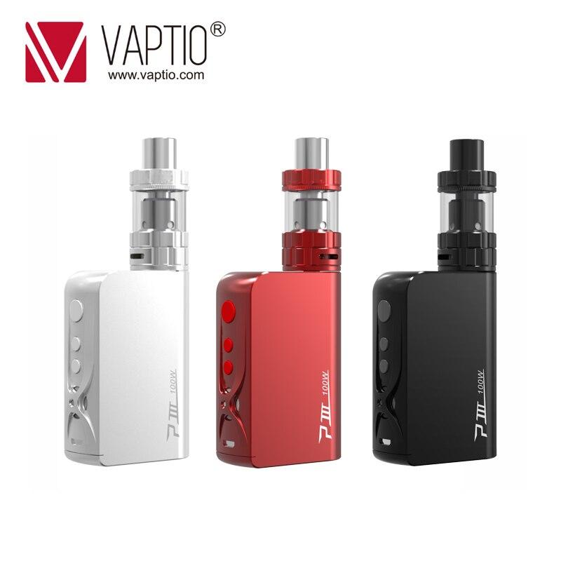 Original Vaptio 100W P3 GEAR KIT 3000mAh Electronic Cigarette 2.0ml P3 Vape kit 3000mAh built in box Mod 0.15ohm kanthal coils