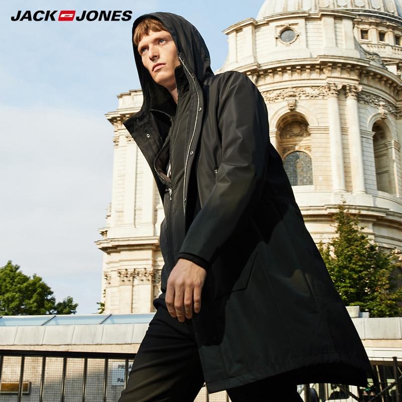 Jack Jones hiver imperméable tissu à capuche amovible doublure manteau veste Parka  218309525-in Parkas from Vêtements homme    1