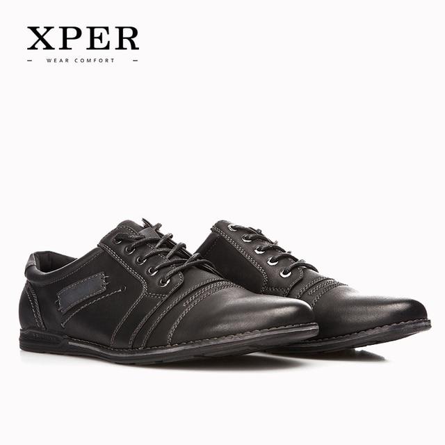 2016 XPER Марка Мужская Повседневная Обувь на шнуровке Коричневый Мужчины Квартиры Бизнес Обувь Квартиры Досуг Zapatos Hombre YM86834BN/835BL