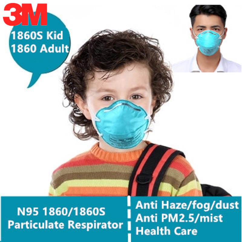 5/10pcs 3M N95 1860/1860S Gas Mask Kid Adult Medical Anti Virus Pathogenic Microorganism Particle Infectious Filter