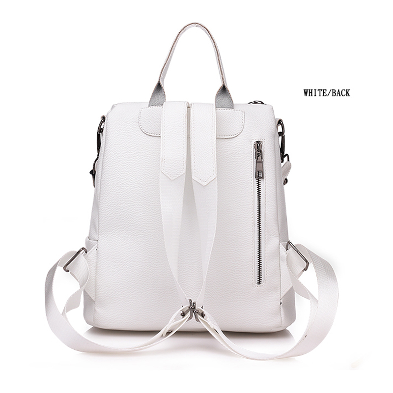 Bags For Women  New Retro Fashion Zipper Ladies Backpack Pu  Leather High Quality School Bag Shoulder Bag For Youth Bags #5