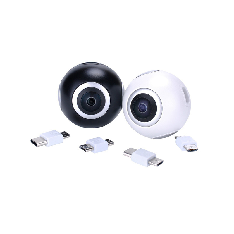 720 Degree HD 360 Video VR Cameras Dual Wide Angle Lens Panoramic Camera Real Time Live Broadcast For Android Smartphone - 2