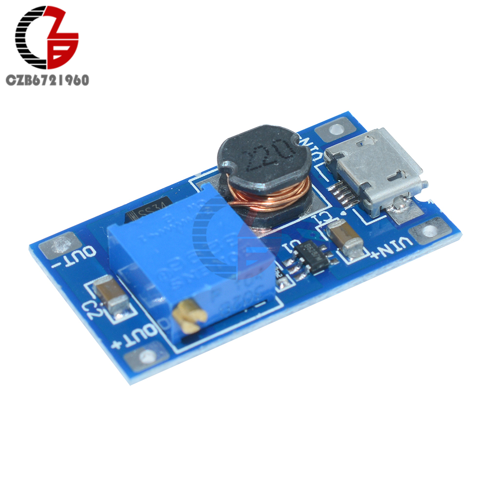 MT3608 DC-DC Step Up Adjustable Boost Converter Micro USB Module Power Supply