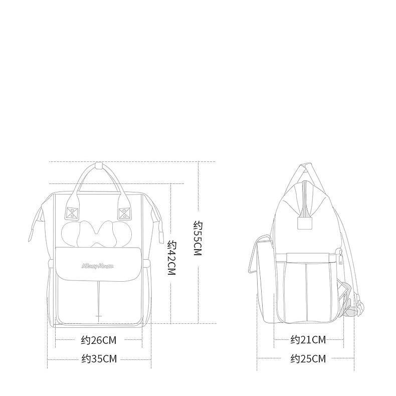 HTB113BVLSzqK1RjSZFHq6z3CpXaG Disney Diaper Bag Backpack For Moms Baby Bag Maternity For Baby Care Nappy Bag Travel Stroller USB Heating Send Free 1Piar Hooks