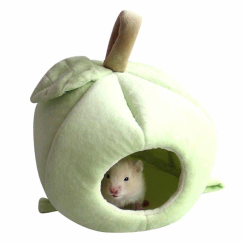 Милые плюшевые зимние теплые Ёж хомяк для крыс белок гнездо кровать дом мелких животных щенок собака кролик Кошка живое Гнездо дом