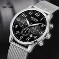 Megir Mens 24-Hour Chronograph Luminous Waterproof Stainless Steel Strap Quartz Watches Men Mans Luxxury Dress Wristwatch 2022