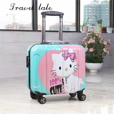 Travel tale  Super light The PC Cartoon fashion 18 inch sizes Rolling Luggage Spinner brand Travel Suitcase Fashion travelTravel tale  Super light The PC Cartoon fashion 18 inch sizes Rolling Luggage Spinner brand Travel Suitcase Fashion travel
