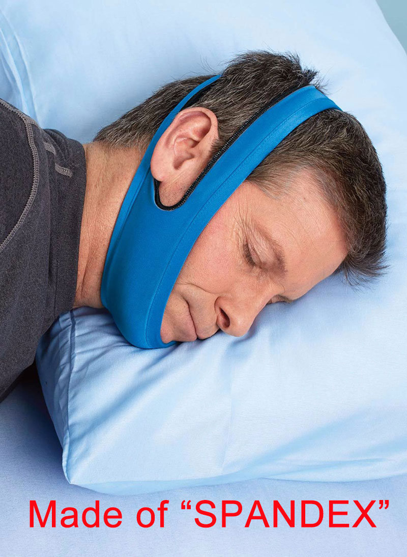 Blue Anti Snoring Chin Strap Effective Snore Stopper Anti Snore Devices Cpap Chin Strap