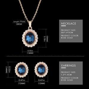 Image 5 - Sk Creatieve Luxe Sieraden Set Vrouw Gift Horloge Oorbel Ketting Horloge Set Voor Vrouwen Horloges Crystal Rose Gouden Horloge Bangle