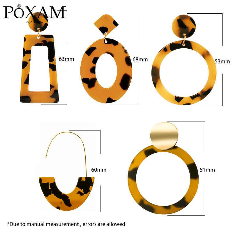 Pendientes de gota de declaración de moda acrílica geométrica para mujer aretes colgantes redondos ovalados de resina Vintage 2019 joyería de la boda de Brincos