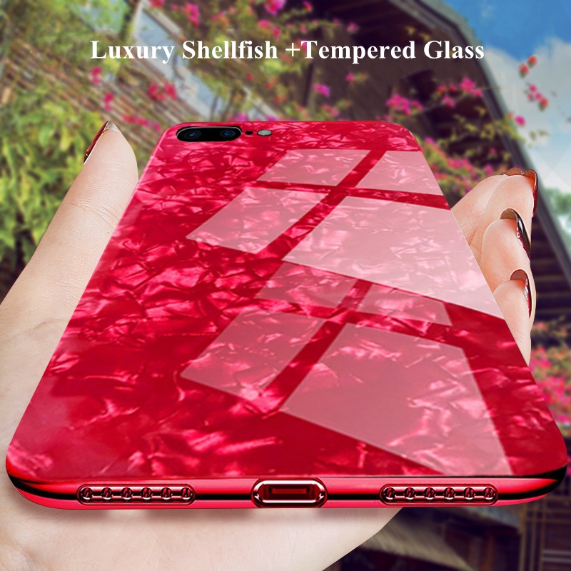 Glass Mirror Case for iphone 6s 6 s plus XR iphone X 10 Cute Shell Silicone Cover For iphone 7 8 plus XS MAX iphone 8 8plus Case iPhone