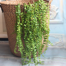 Artificial Succulents Pearls Fleshy Green Vine Flowers Hanging Rattan Wall Garden Decoration Flower Lover Tears Succulent Plants(China)