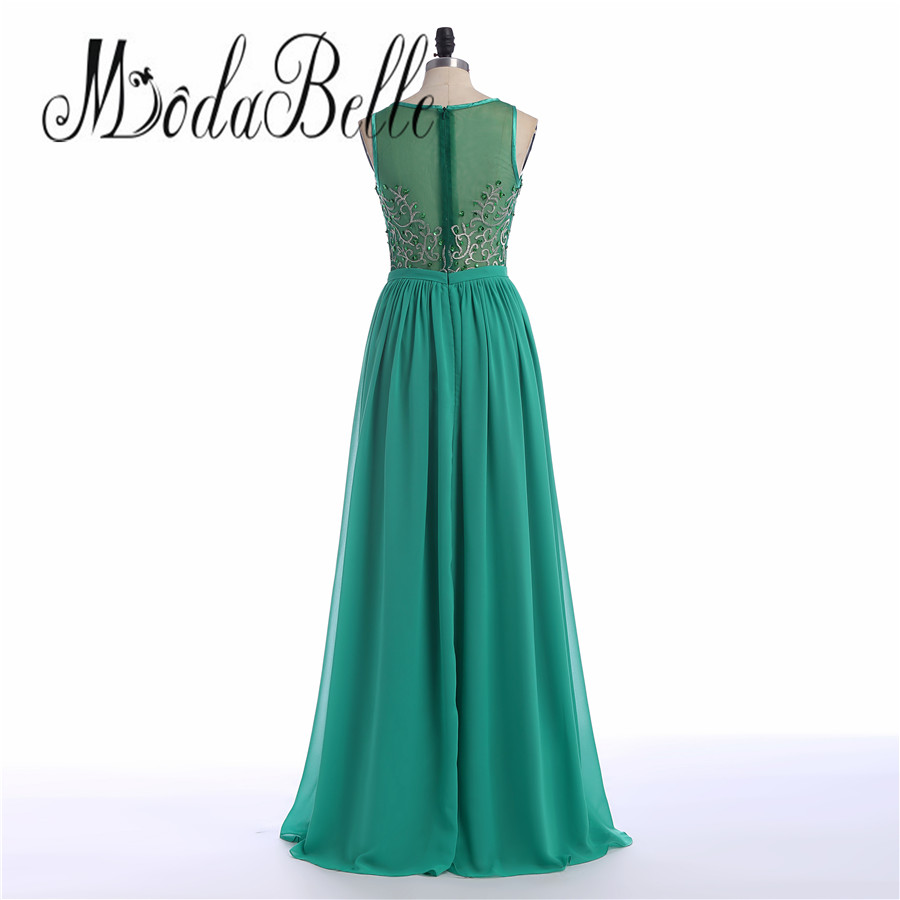 modabelle Chiffon Beaded Embroidered Prom Dress Emerald Green Western  Evening Dress Long Formal Gowns Vestido De Festa 2017-in Prom Dresses from  Weddings ... 5bd8d3ba49c7