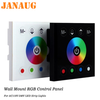 Wall Mount RGB Control Touch Panel for AC110V AC240V 5050 RGB LED Strip Lights, LED Tape Lights, LED Ribbon, LED Neon Lights