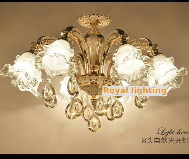 modern murano glass ceiling chandelier led Lampadari plating Aluminum K9 crystal chandelier for dining room coffee shop lighting
