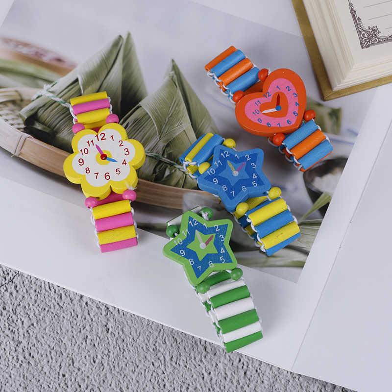 Pulsera reloj de madera para niños falso Baby Shower Girl Boy regalos de navidad juguetes novedosos gran oferta