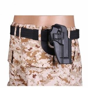 Image 5 - 2017 neue Ankunft CQC M92 1 set pistole pistole Holster Polymer ABS Kunststoff taille gürtel pistole holster fit Airsoft rechts hand