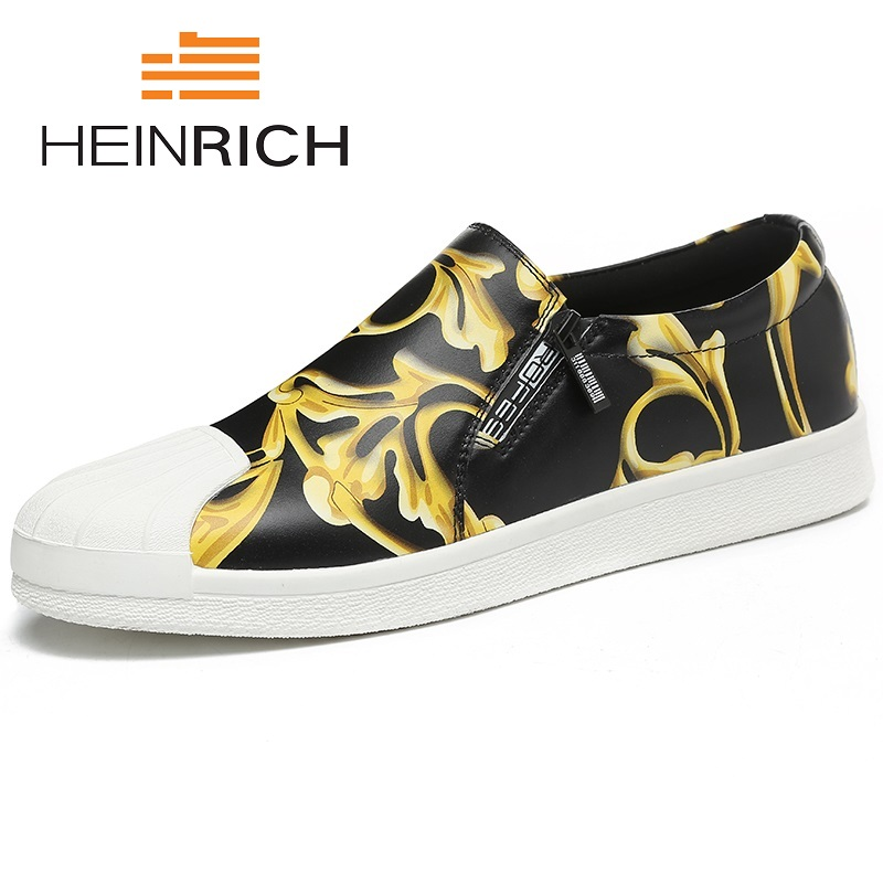 HEINRICH 2018 New Fashion Shoes Men Soft Leather Footwear Men's Causal Shoes Brand Non-Slip Breathable Loafers Sepatu Kulit Pria