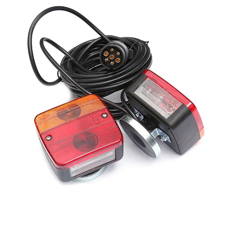 1 Paar Trailer Achterlichten Licht Kits Met Kentekenverlichting 12 V Vrachtwagen Achterlicht Montage Met Magnetische Houder