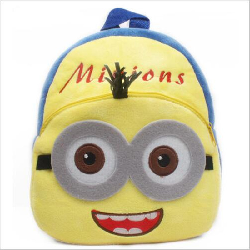 New-Arrival-3D-Cartoon-Superman-Pikachu-Minions-Plush-Children-Backpack-Girls-Boys-Christmas-Gifts-4