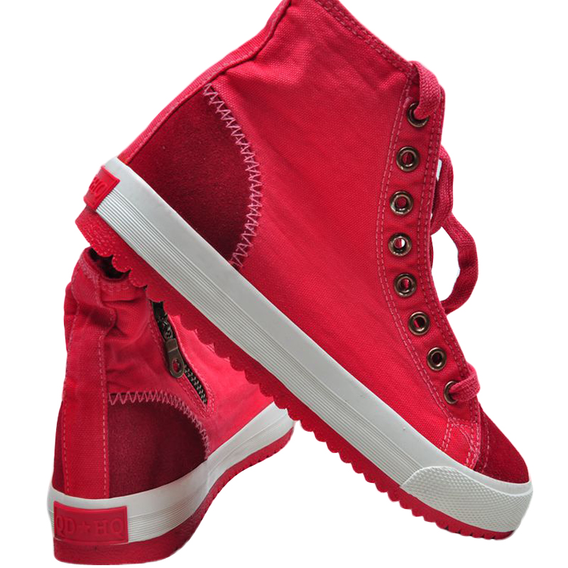 ФОТО New Fashion Flat Shoes Women Fashion Lace Up High Top With Zipper Canvas Shoes Women Casual Hot Sale Shoes BT355