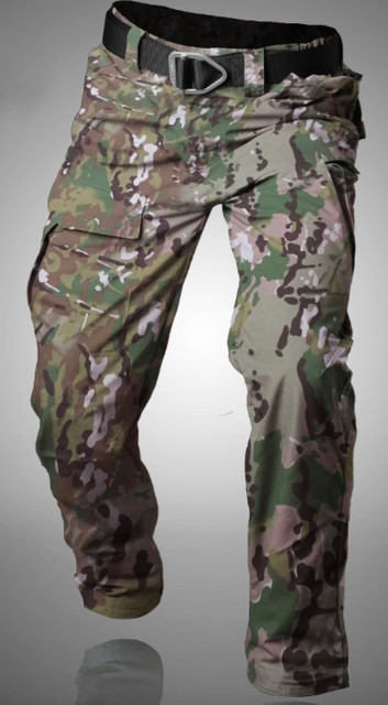Workpants Waterproof Tactical Cargo Pants Mens Loose Fit Cotton Casual Military Army Cargo Camo Combat Work Pants Belt excluded 4