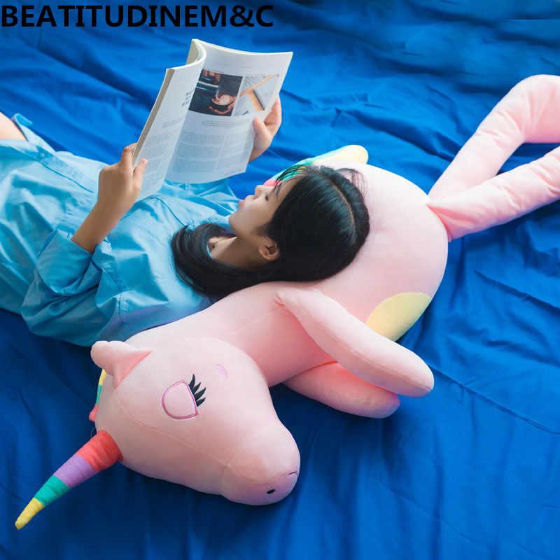 Новый большой мягкий Единорог животное плюшевая игрушка мягкая игрушка девочка подарок Детская игрушка Диван Подушка украшение дома