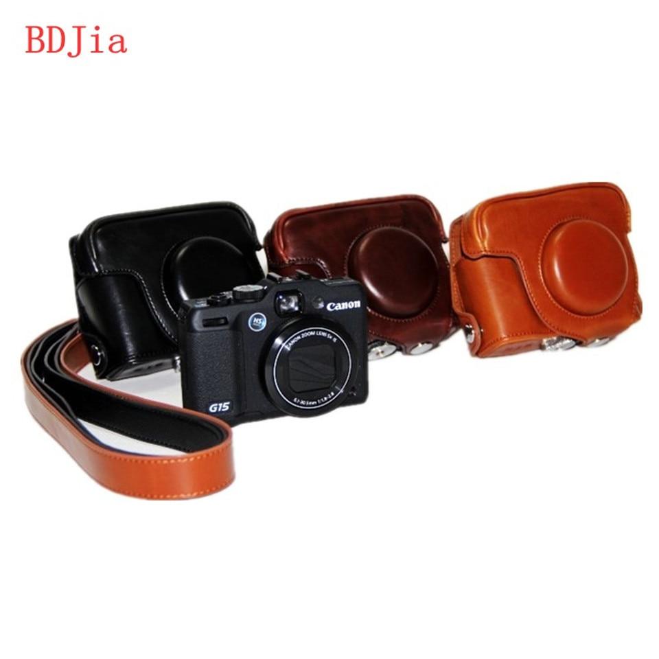 ộ_ộ ༽PU cuero Cámara caso bolsa cubierta para Canon G16 G15 con ...