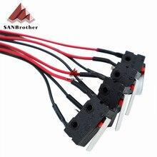 4 Adet/grup 3D Yazıcı Parçaları MINI KOSSEL Limit Anahtarı Endstop Reprap 3 ayaklar 1 Metre Uzun DIY Sınırı Mekanik Uç Durdurma ...