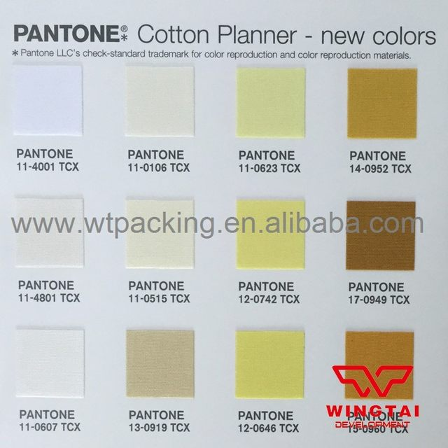 Online Shop Pantone Tcx Cotton Planner Pantone Fashion Home Tcx