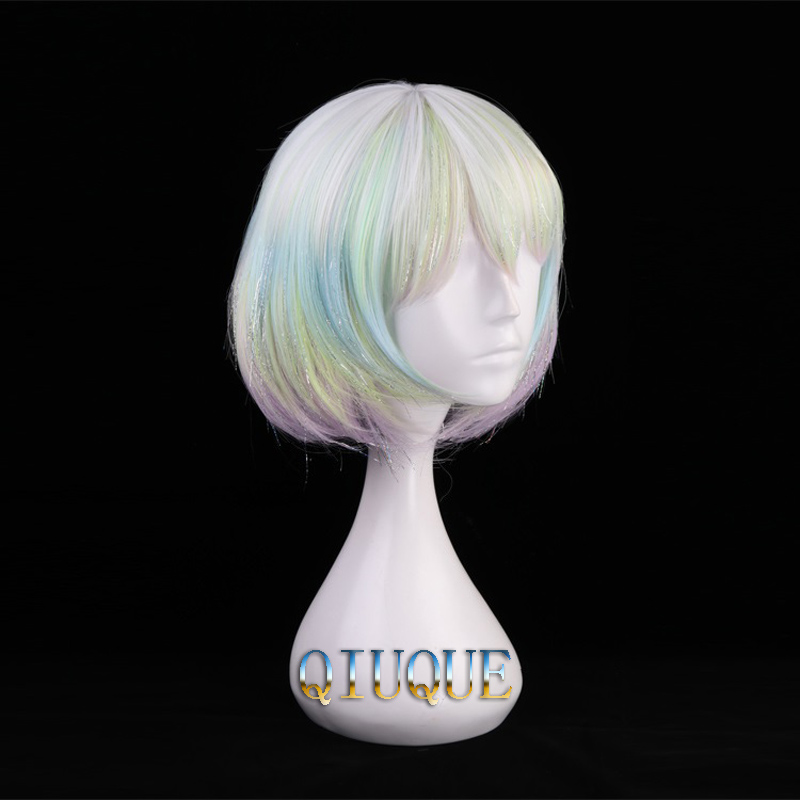 Image 2 - High Quality Anime Land Of The Lustrous Houseki no Kuni Diamond Cosplay Wig Heat Resistant Synthetic Hair Wigs + Wig Cap-in Anime Costumes from Novelty & Special Use