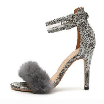 Women Pumps Sexy Summer Heels Sandals For Women Plus Size 34-43 High Heels 8cm Women Heel Shoes Black Chaussures Femme