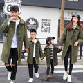 2016 New Girls Boy Cashmere coats mother and daughter coat family look matching winter warm outerwear father & daughter clothes