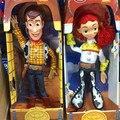 Аниме фигура Toy Story 3 ПВХ фигурку Джесси/Вуди 36 см Коллекция Модель Kid toy Электрифицированных С Голосом РОЗНИЧНОЙ КОРОБКЕ FB086