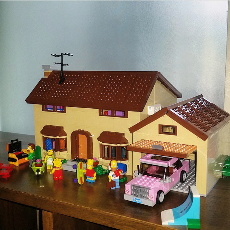 New LEPIN 16005 2575Pcs the Simpsons House Model Building Block Bricks Compatible 71006 Boy gift legoed lepin movie figures 16005 2575pcs the simpsons house model building kits blocks bricks educational kid toy compatible with 71006