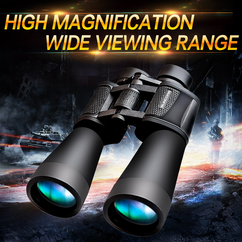 Suncore High Quality 20x60 Teleskop Binocular Power Telescope Wide Angle View Field Big Eyepiece Day Night Vision Hunting Bak4  цены