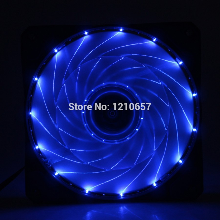 Blue LED Light 12V 12cm 120mm 120x120x25mm PC Computer Case Cooling Fan 4pin