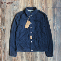 Rocksir 2017 Winter Jacket Men Casual 100 Cotton Vintage Denim Jacket Parka Military Coat Army Blue