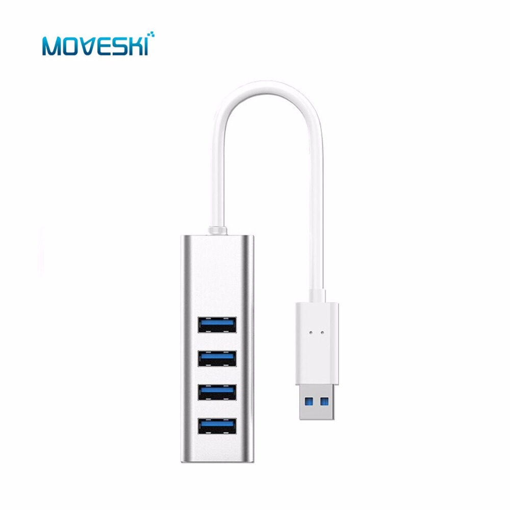 Moveski IHUB-02P USB 4-Port USB 3.0 Hub for iMac, MacBook, MacBook Pro, MacBook Air, Mac Mini and More