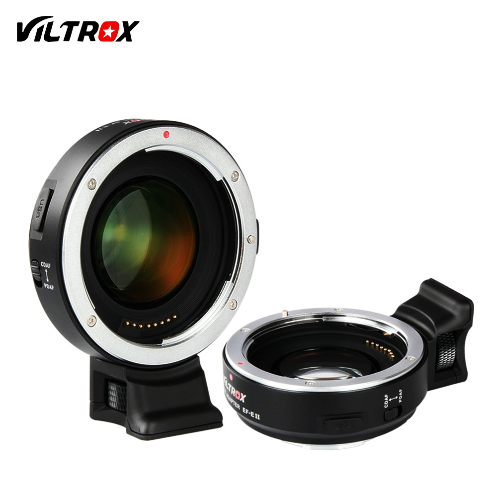 Viltrox EF-E II Auto Focus Reducer Speed Booster Lens Adapter for Canon EF Lens to Sony NEX E A9 A7 A7R/II/III A7SII A6500 NEX7 camera auto focus lens adapter ii for canon eos ef ef s to sony full frame nex a7 a7r