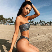 Купить с кэшбэком 2019 Summer High Cut bikini set Swimwear female two pieces swimsuit Women Push Up M135