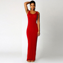JSMY 2019 New Summer Fashion Women Elegant Sexy Vest Maxi Dress Slim Pack Hip