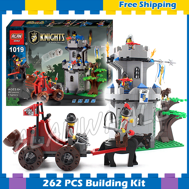 262pcs New Kingdoms Outpost Attack Jungle Castle Medieval Lion Knights Carriage Model Building Gifts sets Compatible With lego