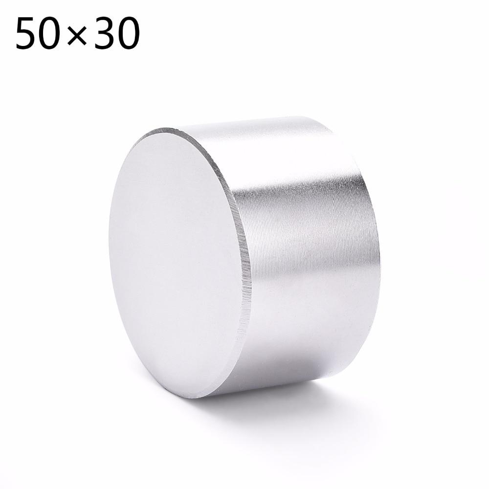 Магнит 1 шт./лот N52 диаметр 50x30mm Горячая Круглый Магнит Сильные магниты редкоземельных Неодимовый магнит 50x30 мм Оптовая Продажа 50*30 мм