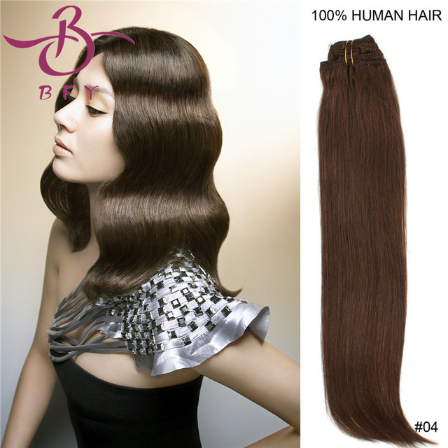 Best Cheap Price Clip In Human Real Hair Extensions 7peslot 20 70g