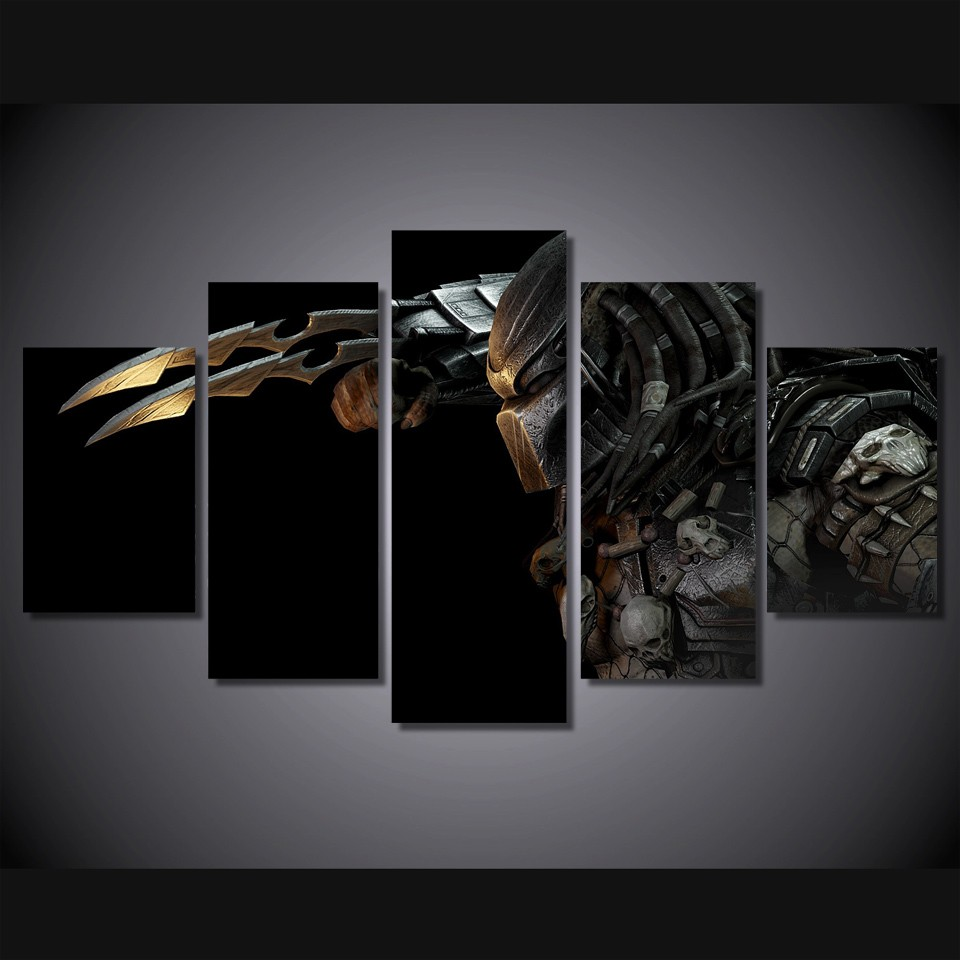 5 Teile/satz Gerahmte HD Gedruckt Predator Alien Bild Wandkunst ...