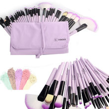 Purple 32 Pcs Makeup Brushes Set Professional Make up Brush Pinceaux Cosmetics Foundation Eyeliner Lip Maquiagem + Pouch Bag