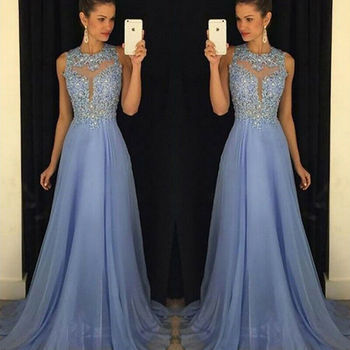 2019 Women Formal Gown Dresses Wedding Evening Party Prom Long Dress Arrival Lace Floral Maxi Dresses 3